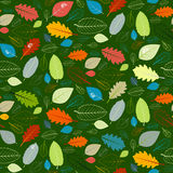 Green Seamless Leaves Pattern Royalty Free Stock Photo