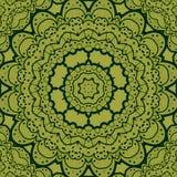 Green seamless mandala. Vinatge element. Tribal Stock Photo