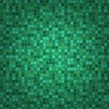 Green seamless mosaic background Stock Image