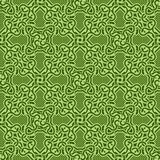 Green seamless ornament Stock Image