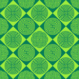 Green seamless ornamental pattern. Beautiful seamless ornamental pattern illustration green version Stock Image
