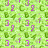 Green seamless pattern Stock Image