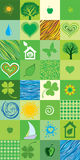 Green seamless pattern. Royalty Free Stock Photography
