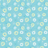 Green seamless pattern #3. Green seamless pattern with spirals Royalty Free Stock Image