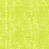 Green seamless pattern #6. Green seamless pattern with hand drowed branches and leafs Stock Image
