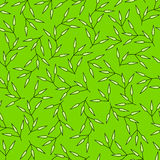 Green seamless pattern with abstract leaves Royalty Free Stock Image