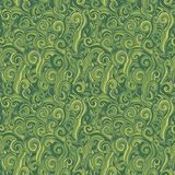 Green seamless pattern. Background with grass. Stock Photography