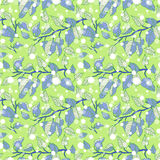 Green  seamless pattern with branches Stock Images