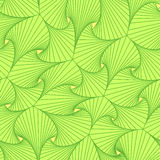 Green seamless pattern composed of pieces with curved shapes. Green seamless pattern composed of pieces with curved shapes and lines in form resembling the stock illustration
