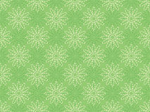 Pattern with dashed line flowers. Green seamless pattern with dashed line flowers Stock Images