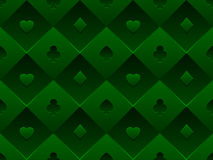 Green Seamless Pattern Fabric Poker Table Royalty Free Stock Photos