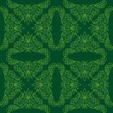 Green seamless pattern with floral elements - eps Royalty Free Stock Photography