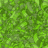 Green seamless pattern octopus Stock Photography