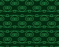 Green seamless pattern with ornament. Vector illustration. Stock Image