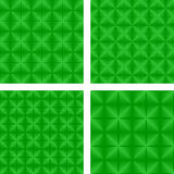 Green seamless pattern set Stock Images