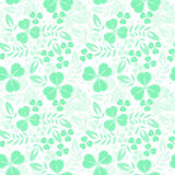Green seamless pattern with shamrock Stock Image