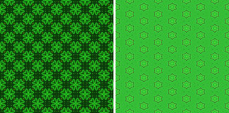 Green seamless patterns Royalty Free Stock Photography