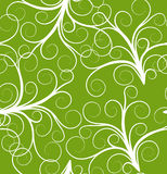 Green seamless plant pattern Royalty Free Stock Photo