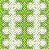 Green seamless repeating geometrical pattern Royalty Free Stock Photos