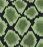 Green seamless snake skin pattern stock illustration