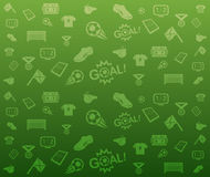 Green seamless soccer background. Green seamless soccer icons background Royalty Free Stock Photos