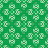Green seamless vector vintage pattern Stock Photos