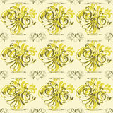 Green Seamless Vintage Floral Background. Can be used as textile, fabric or wrapping paper Stock Photo