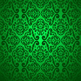 Green seamless wallpaper. Royalty Free Stock Photo