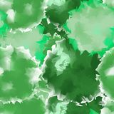 Green seamless watercolor texture background. Stock Images