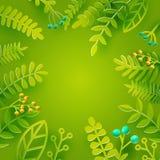 Green season florals Stock Photos