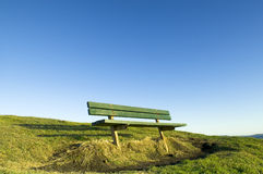 Green seat on hill Royalty Free Stock Photos