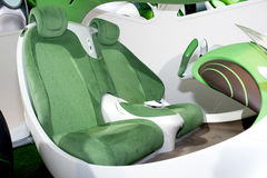 Green seat at a modern car inside Royalty Free Stock Images