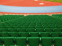 Green seats Stock Image