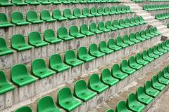 Green seats Stock Photography