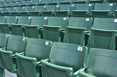 Green Seats. Rows of green,plastic stadium seats Royalty Free Stock Photography