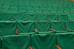 Green seats in cinema Stock Image