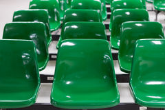 Green Seats Royalty Free Stock Photography