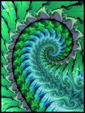 Green seaweed abstract. Green abstract seaweed theme fractal pattern vector illustration