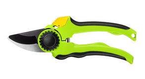 Green Secateurs Stock Image