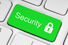 Green security button Stock Image