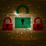 Green Security Pass Royalty Free Stock Image