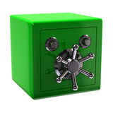 Green security safe Stock Image