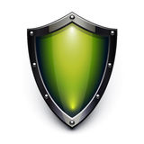 Green security shield Royalty Free Stock Photos