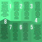 Green segment template Stock Photography