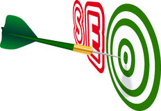 Green SEO dart. Concept of success. Stock Photos