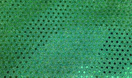 Green sequin fabric Royalty Free Stock Photography