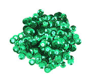 Green sequins Royalty Free Stock Image