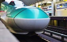 A green Series E5 Shinkansen high-speed bullet train Stock Photo