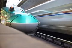 A green Series E5 Shinkansen high-speed bullet train Royalty Free Stock Images