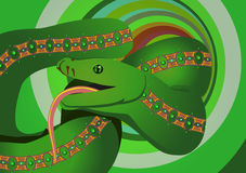 Green serpent Royalty Free Stock Images